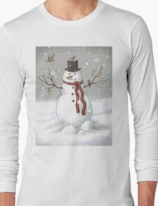 Christmas Snowman Long Sleeve T-Shirt