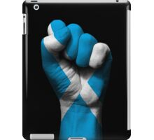 Flag of Scotland on a Raised Clenched Fist  iPad Case/Skin