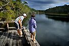 Fishing at Tabourie Lake by Darren Stones