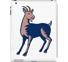 Mountain Domestic Goat Woodcut iPad Case/Skin