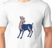 Mountain Domestic Goat Woodcut Unisex T-Shirt