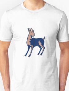 Mountain Domestic Goat Woodcut T-Shirt