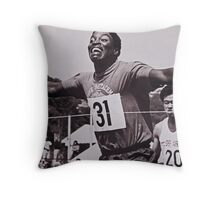 At The Wire Throw Pillow
