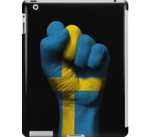 Flag of Sweden on a Raised Clenched Fist  iPad Case/Skin