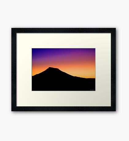 Painted Hills, South Australia Framed Print
