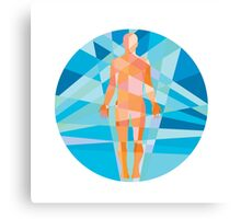 Human Muscular System Anatomy Circle Low Polygon Canvas Print