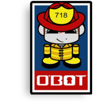 Firefighter Hero'bot 2.1 Canvas Print