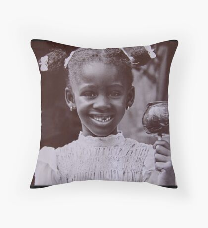 Candy Apple Throw Pillow