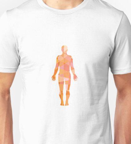 Human Muscular System Anatomy Low Polygon Unisex T-Shirt