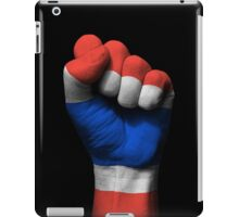 Flag of Thailand on a Raised Clenched Fist  iPad Case/Skin