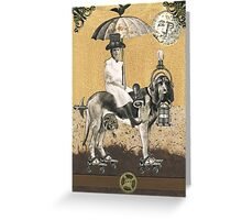 Bartleby the Steam Hound Greeting Card