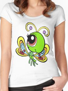 Littlest Pet Shop Butterfly Women's Fitted Scoop T-Shirt