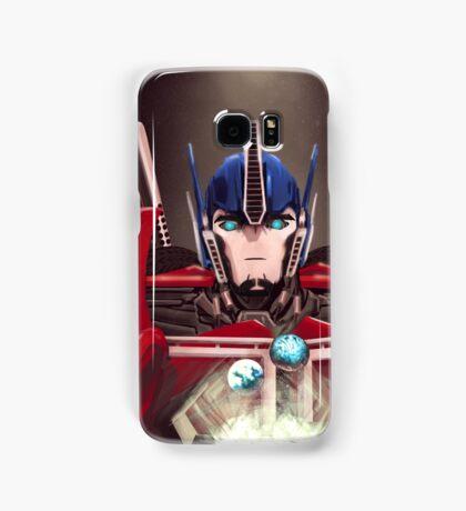 Optimus Prime w/ Earth and Cybertron Samsung Galaxy Case/Skin