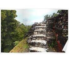 Ancient stone stairs Poster