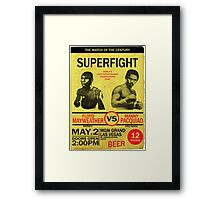 Manny Pacquiao Vs Floyd Mayweather Framed Print