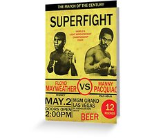Manny Pacquiao Vs Floyd Mayweather Greeting Card