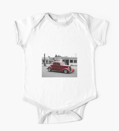 Red Car Classic One Piece - Short Sleeve