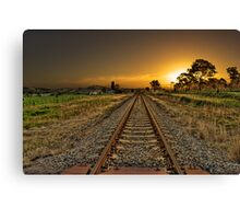 One way track Canvas Print