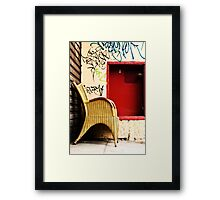 Somewhere to sit Framed Print