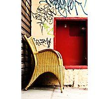 Somewhere to sit Photographic Print
