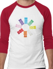 Gummy Bear Circle Men's Baseball ¾ T-Shirt