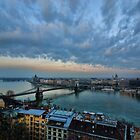 Budapest sunset by sandgrouse