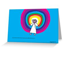 Jesus loves me this I know - A child's Prayer Card No 4 Greeting Card