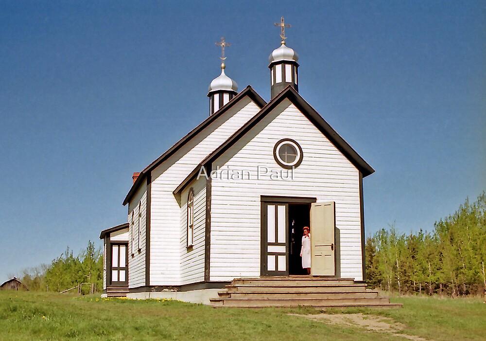 St. Nicholas Ukrainian Greek Catholic Church - Ukrainian Cultural Heritage Village, Alberta, Canada by Adrian Paul