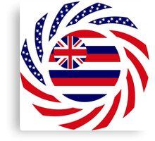 Hawaiian Murican Patriot Flag Series Canvas Print