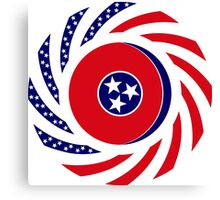 Tennessean Murican Patriot Flag Series Canvas Print
