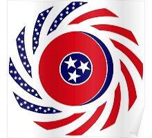Tennessean Murican Patriot Flag Series Poster