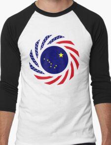 Alaskan Murican Patriot Flag Series Men's Baseball ¾ T-Shirt