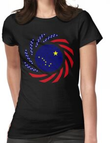 Alaskan Murican Patriot Flag Series Womens Fitted T-Shirt