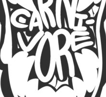 CARNI-VORE (black) Sticker