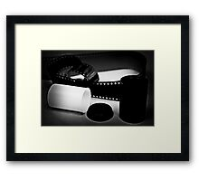 Black and White Film Framed Print