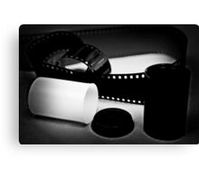 Black and White Film Canvas Print