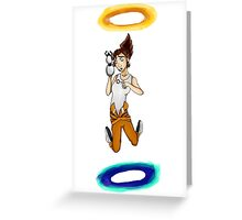 Chell falls for eternity Greeting Card