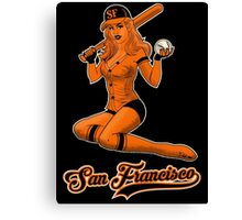 SF Giants Pin-Up Girl 2 Canvas Print