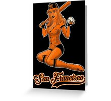 SF Giants Pin-Up Girl 2 Greeting Card