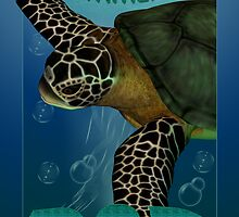 Father's Day Card with Sea Turtle by Moonlake
