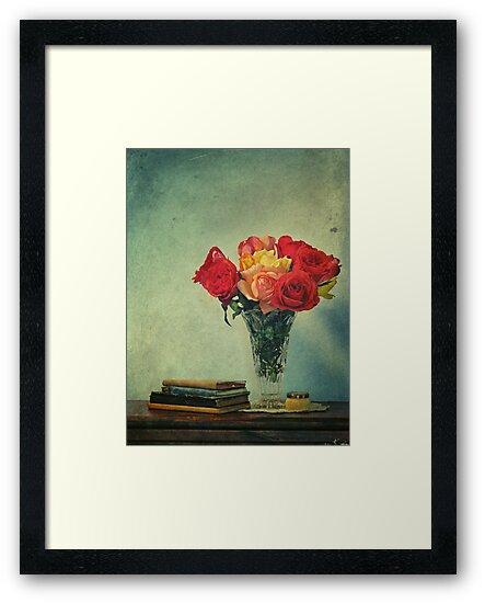 still life with books by Adriana Glackin