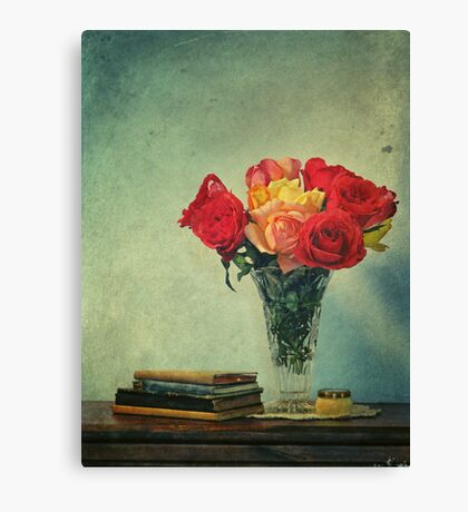 still life with books Canvas Print