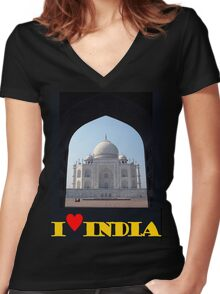 I love India Women's Fitted V-Neck T-Shirt