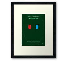 No117 My MATRIX minimal movie poster Framed Print