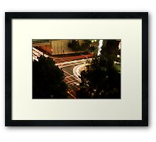 Street Lights at a busy intersection Framed Print