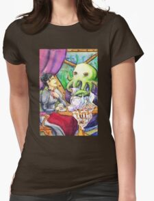 Taking Tea with Cthulu Womens Fitted T-Shirt