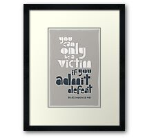 80s punk rock wisdom Framed Print