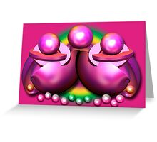 Sci-fi shells and pearls Greeting Card