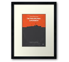 No126 My The Philadelphia Experiment minimal movie poster Framed Print