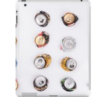 smashed beer drink cans  iPad Case/Skin